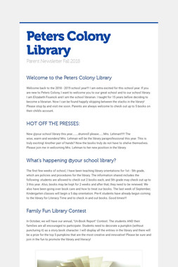 Peters Colony Library