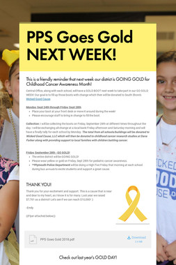 PPS Goes Gold NEXT WEEK!