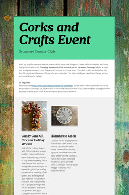 Corks and Crafts Event