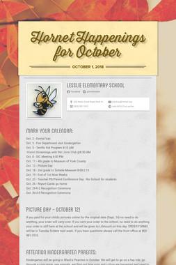 Hornet Happenings for October
