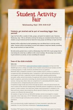 Student Activity Fair