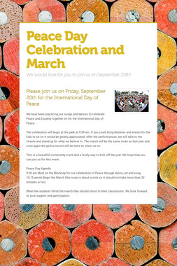 Peace Day Celebration and March
