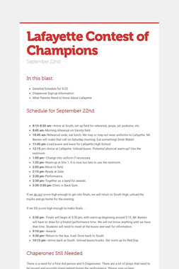 Lafayette Contest of Champions