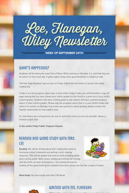 Lee, Flanegan, Wiley Newsletter
