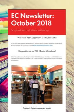 EC Newsletter: October 2018