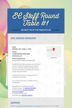 EC Staff Round Table #1