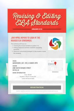 Revising & Editing  ELA Standards