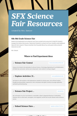 SFX Science Fair Resources