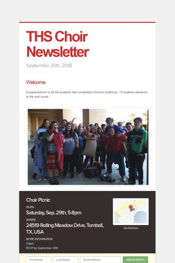 THS Choir Newsletter