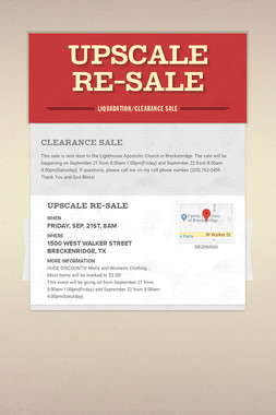 Upscale Re-Sale