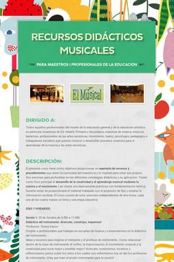 RECURSOS DIDáCTICOS MUSICALES