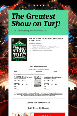The Greatest Show on Turf!