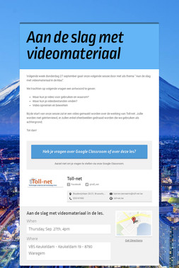 Aan de slag met videomateriaal