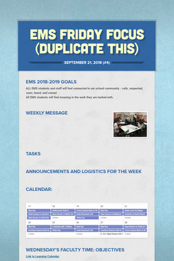 EMS Friday Focus (Duplicate this)