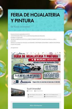 FERIA DE HOJALATERIA Y PINTURA