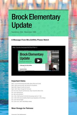 Brock Elementary Update