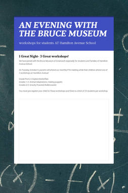 AN EVENING WITH THE BRUCE MUSEUM