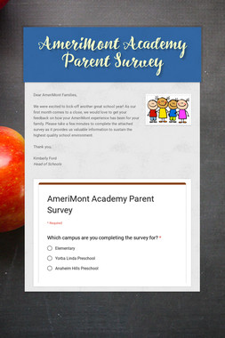 AmeriMont Academy Parent Survey