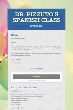 Dr. Pizzuto's Spanish Class
