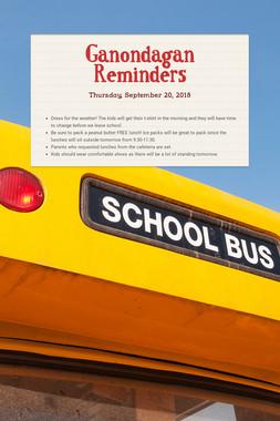 Ganondagan Reminders