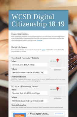 WCSD Digital Citizenship 18-19