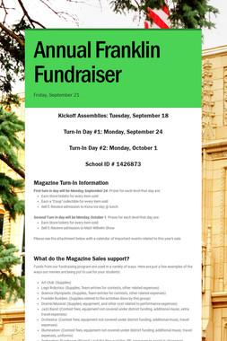 Annual Franklin Fundraiser