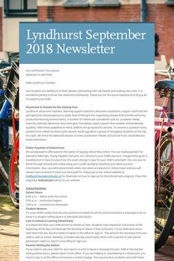 Lyndhurst September 2018 Newsletter