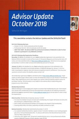 Advisor Update October 2018
