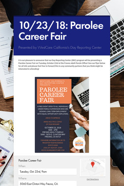 10/23/18: Parolee Career Fair