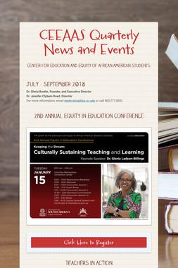 CEEAAS Quarterly News and Events