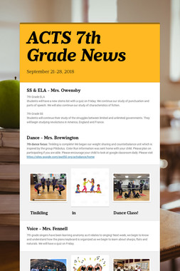 ACTS 7th Grade News