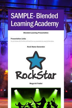 SAMPLE- Blended Learning Academy