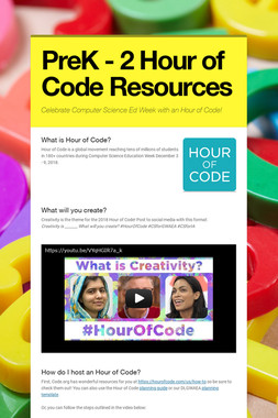 PreK - 2 Hour of Code Resources