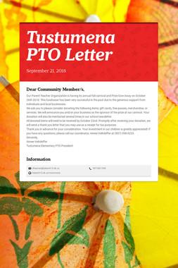 Tustumena PTO Letter