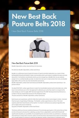 New Best Back Posture Belts 2018