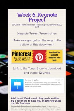 Week 6: Keynote Project