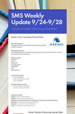 SMS Weekly Update 9/24-9/28