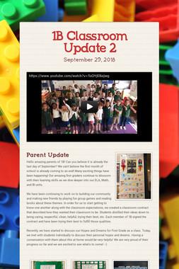 1B Classroom Update 2