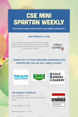 CSE Mini Spartan Weekly
