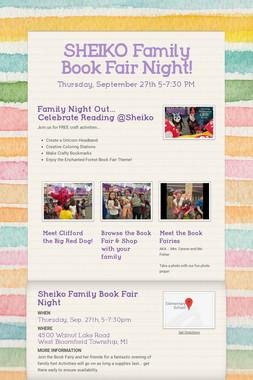 SHEIKO Family Book Fair Night!