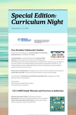 Special Edition: Curriculum Night