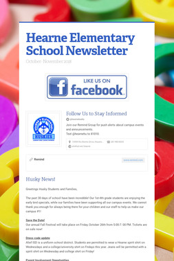 Hearne Elementary School Newsletter