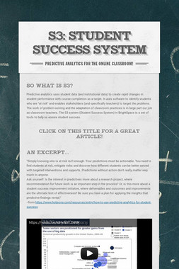 S3:  Student Success System