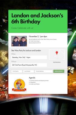 Landon and Jackson's 6th Birthday