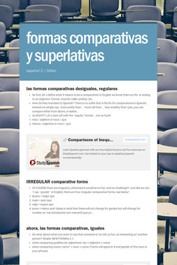 formas comparativas y superlativas