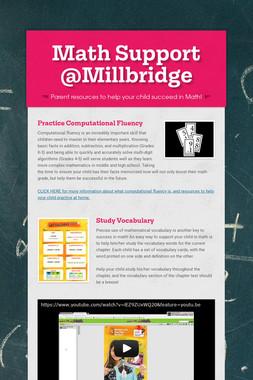 Math Support @Millbridge