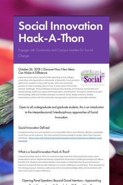 Social Innovation Hack-A-Thon