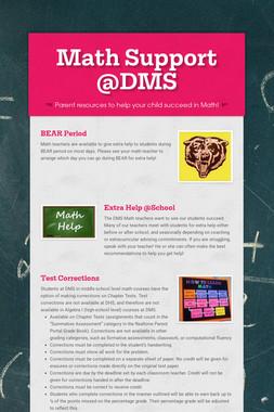 Math Support @DMS