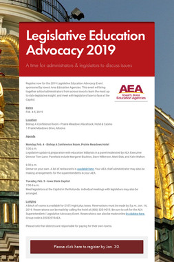 Legislative Education Advocacy 2019