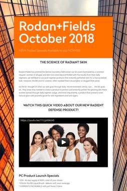 Rodan+Fields October 2018